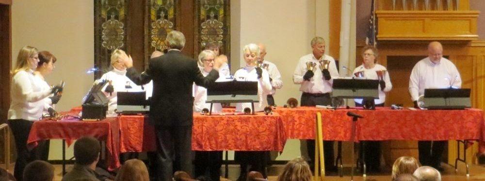 Bell Choir playing bells