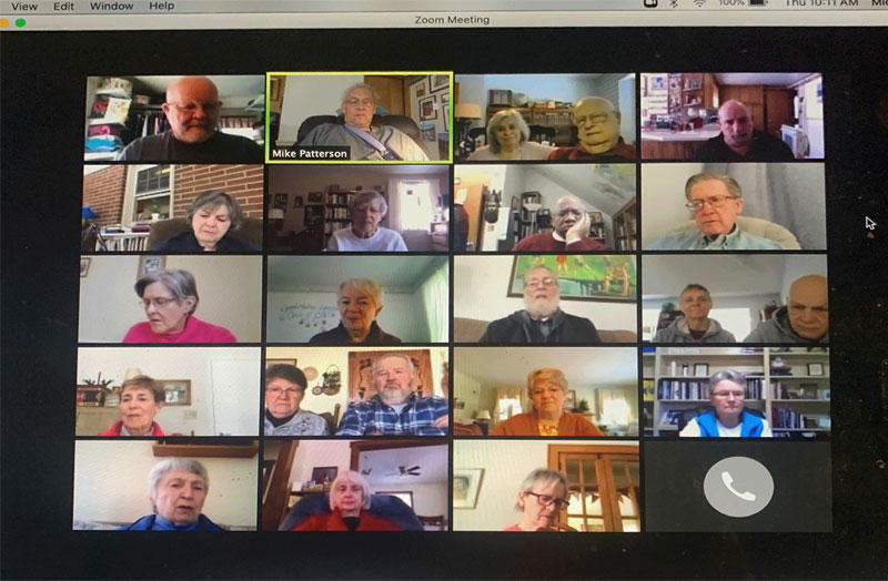 The Hour meets via Zoom to include people from across the country